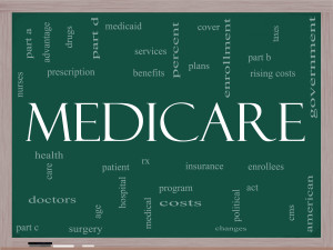 Medicare Sign representing Pros and Cons of Utah Medicare Advantage Plans